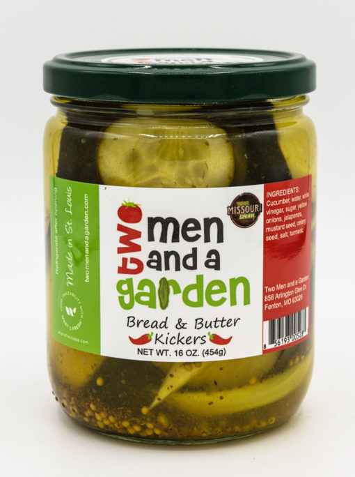 Product Image Bread and Butter Kickers Pickles Two Men and a garden