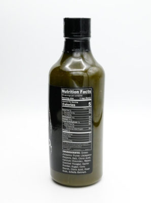 Sriracha Granada All Natural Hot Sauce Nutrition Label
