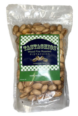 Tastachios Wood Fire Pistachios - 8oz Bag - Front - Two Men and a Garden