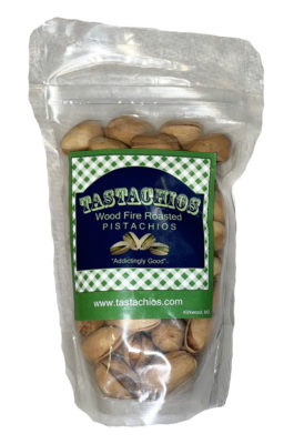 Tastachios Wood Fire Pistachios - 3oz Bag - Front - Two Men and a Garden