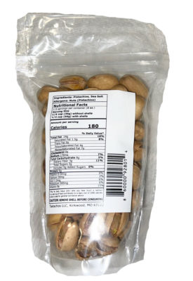Tastachios Wood Fire Pistachios - 3oz Bag - Back - Two Men and a Garden
