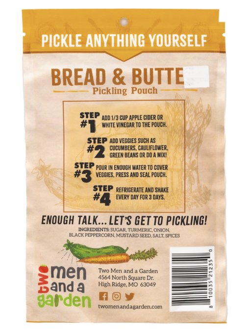 Two Men And A Garden Bread and Butter Pickling Pouch