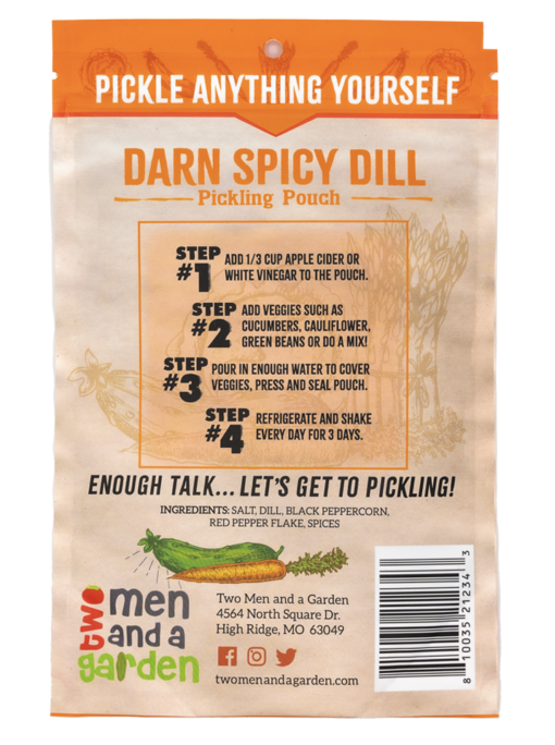 Two Men And A Garden Darn Spicy Dill Pickling Pouch