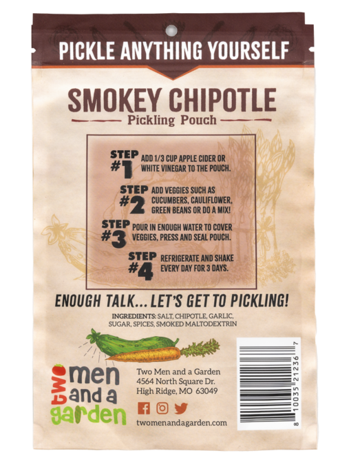 Two Men And A Garden Smokey Chipotle Pickling Pouch